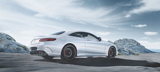 The Mercedes-AMG S 63 Coupé.