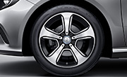 Mercedes A class specs - 43.2 cm 5-spoke light-alloy wheel